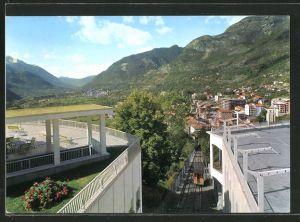 AK Saint Vincent, Funicolare delle Terme e scorcio panoramico