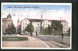 AK Zagreb, Trg Kralja Aleksandra Sveuciliste, Strassenbahn