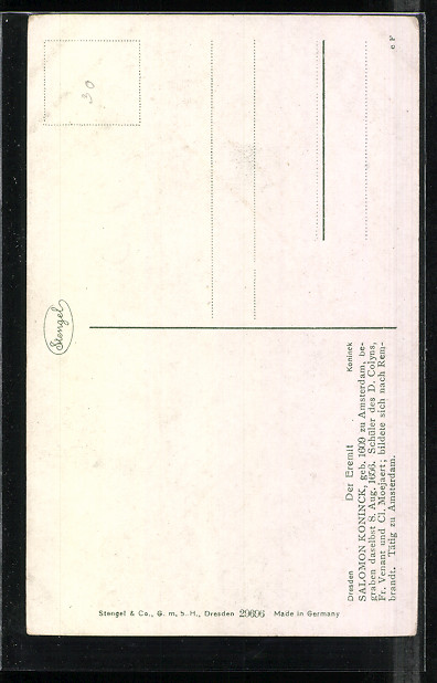 767a39da0bf8 Künstler-AK Stengel   Co. Nr. 29696  Der Eremit von Salomon Koninck ...