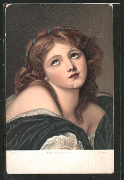 Künstler-AK Stengel & Co. Nr. 29744: Kleines Mädchen von J. B. Greuze