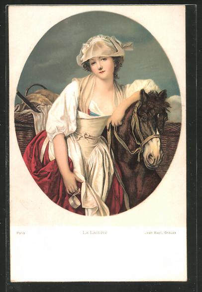 Künstler-AK Stengel & Co. Nr. 29885: La Laitière von Jean Bapt. Greuze