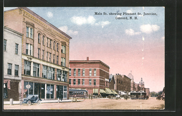 AK Concord, NH, Main Street showing Pleasant St. Junction