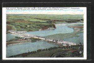AK Muscle Shoals, AL, Airplane View of Wilson Dam, Looking Northeast