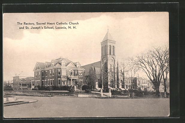 AK Laconia, NH, The Rectory, Sacred Heart Catholic Church and St. Joseph's School