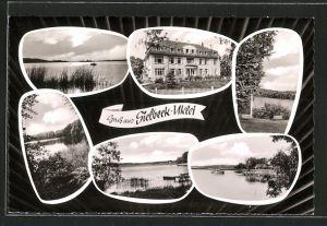AK Sielbeck, Gebäudeansicht, Blick auf den See