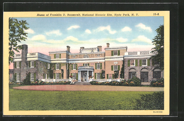 AK Hyde Park, NY, Home of Franklin D. Roosevelt, Präsident der USA