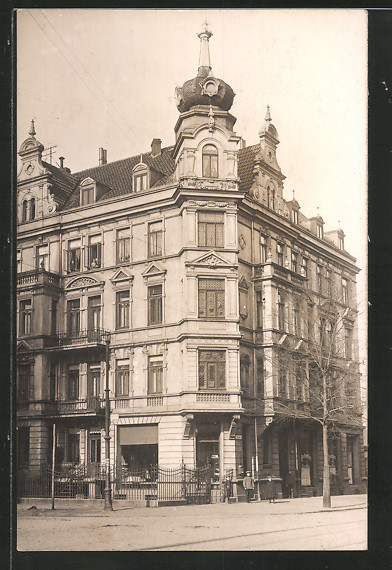 Foto-AK Hannover, Wohnhaus Dragonerstrasse Ecke Vahrenwalder Strasse ca. 1910