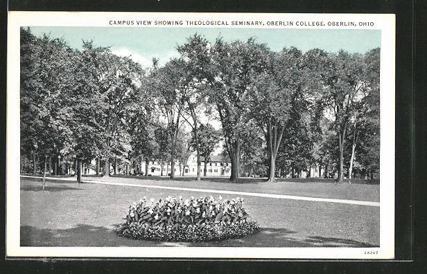 AK Oberlin, OH, Campus View showing Theological Seminary, Oberlin College