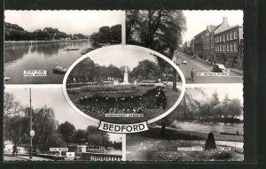 AK Bedford, River Ouse from Bridge, St. Peter's Street and Bedford Park