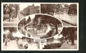 AK Bedford, St. Peter's Street, River Ouse and the Embankment