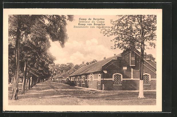 AK Camp de Beverloo / Kamp van Beverloo, Intérieur du Camp ...