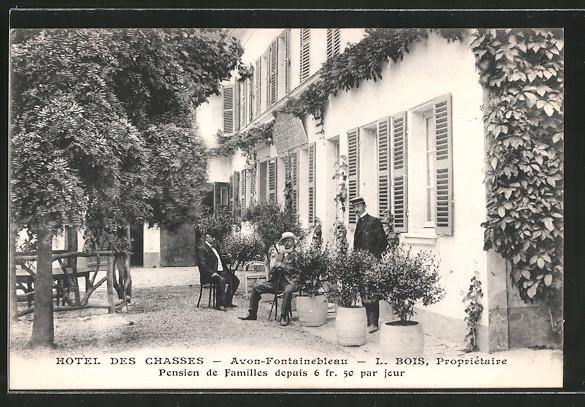AK Avon-Fontainebleau, Hotel des Chasses, prop. L. Bois