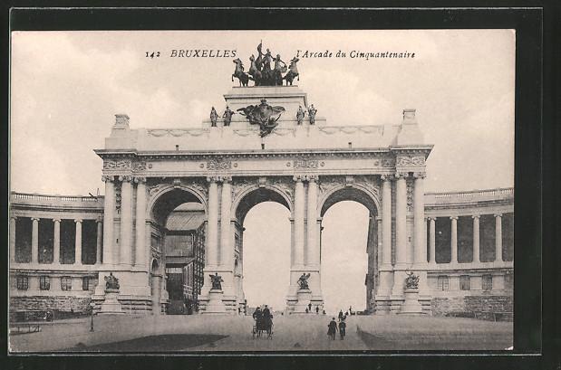 AK Brüssel / Bruxelles, L'arcade du cinquantenaire