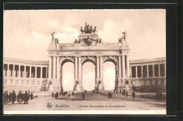 AK Brüssel / Bruxelles, l'Arcade Monumentale du Cinquantenaire