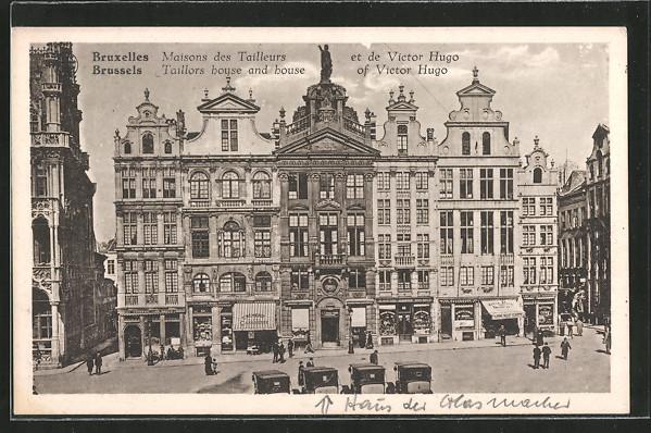 AK Brussels / Bruxelles, Taillors house and house of Victor Hugo / Maisons des Tailleurs et de Victor Hugo
