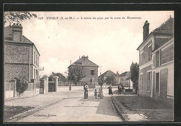 AK Voulx, l'Entrée du pays par la route de Montereau