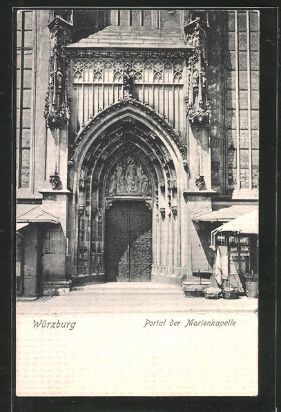AK Würzburg, Portal der Marienkapelle