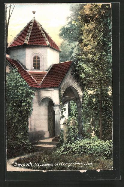 AK Bayreuth, Mausoleum des Komponisten Liszt