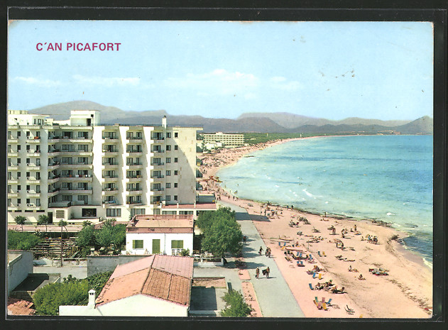 Ak c 39 an picafort mallorca hotels am strand nr 6477828 for Design hotel mallorca strand