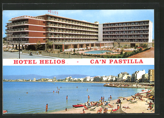 Ak c 39 an pastilla mallorca hotel helios strand mit for Design hotels auf mallorca