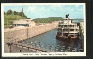 AK Kentucky Dam, KY, Steamer Delta Queen Clearing Locks of Kentucky Dam