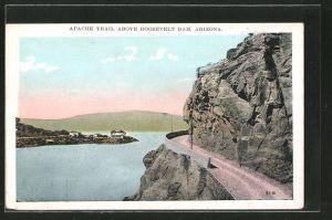 AK Roosevelt Dam, AZ, Apache Trail above Roosevelt Dam