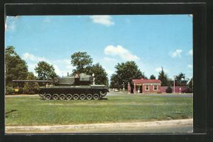 AK Fort Knox, KY, Entrance to the Armor Center, Tank