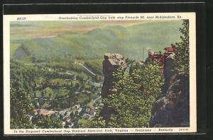 AK Middlesboro, KY, Overlooking Cumberland Gap from atop Pinnacle Mount
