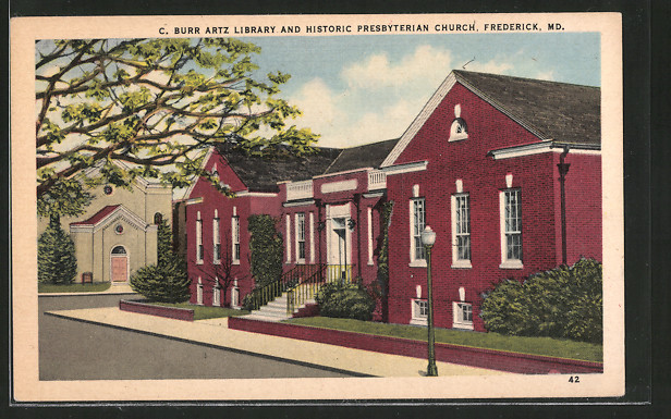 AK Frederick, MD, C. Burr Artz Library and Historic Presbyterian Church
