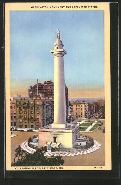 AK Baltimore, MD, Mt. Vernon Place, Washington Monument