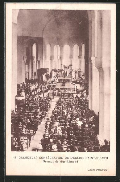 AK Grenoble, Consécration de l'église Saint-Joseph, sermon de mgr. Rémons