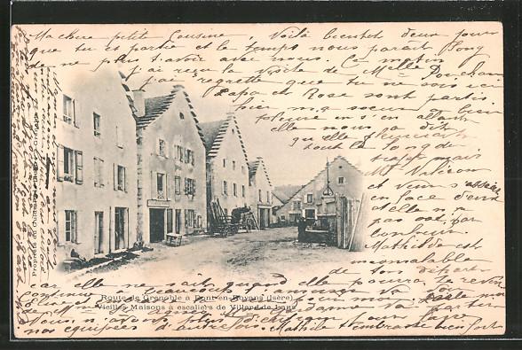 AK Villard-de-Lans, vieilles Maisons à escaliers