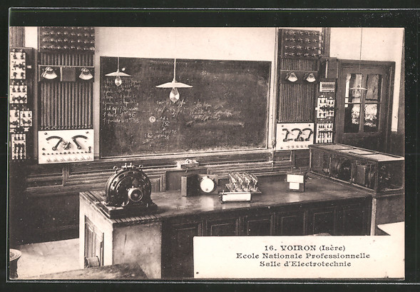AK Voiron, Ecole Nationale Professionnelle, Salle d'Electrotechnie