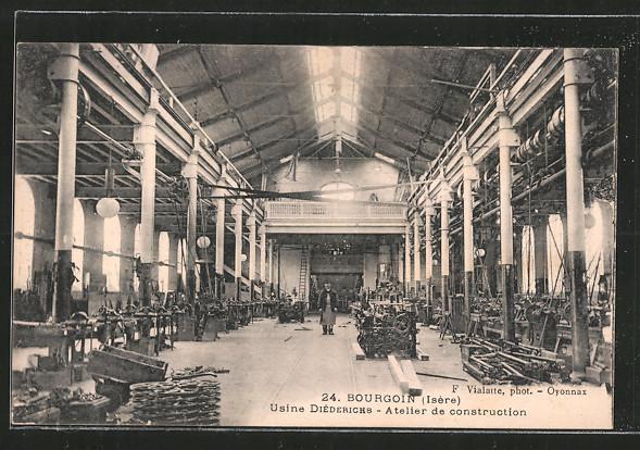 AK Bourgoin, Usine Diéderichs, atelier de construction, intérieur