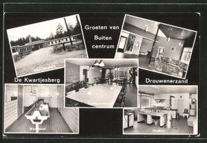 AK Drouwenerzand, van Buiten centrum De Kwartjesberg, Vooraanzicht, Conferentiezaal, Hal, Waslokal, Keuken