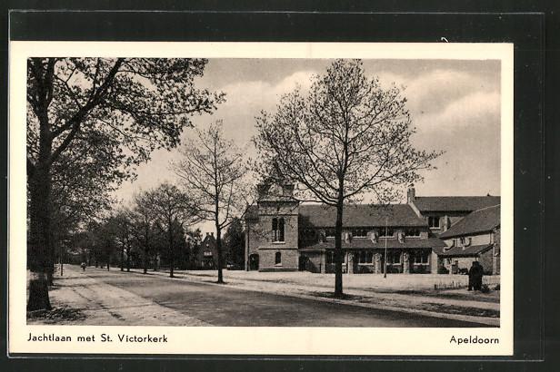 AK Apeldoorn, Jachtlaan met St. Victorkerk