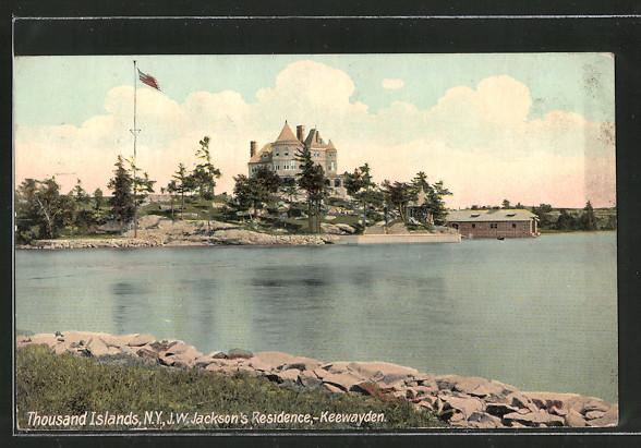 AK Thousand Islands, NY, J. W. Jackson's Residence, Keewayden