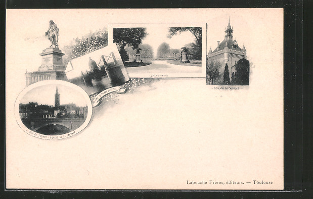 AK Toulouse, Donjon du Capitole, Quai de Tounis, Eglise d
