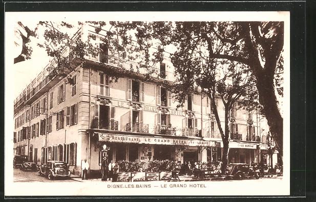 ak digne les bains bick auf das grand hotel nr 6491888 oldthing ansichtskarten europa. Black Bedroom Furniture Sets. Home Design Ideas