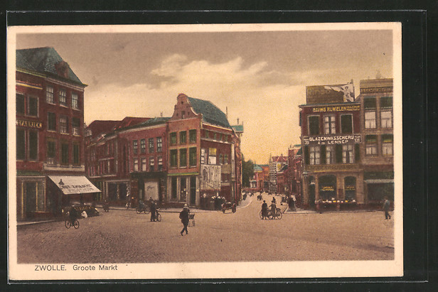 AK Zwolle, Groote Markt mit Geschäften