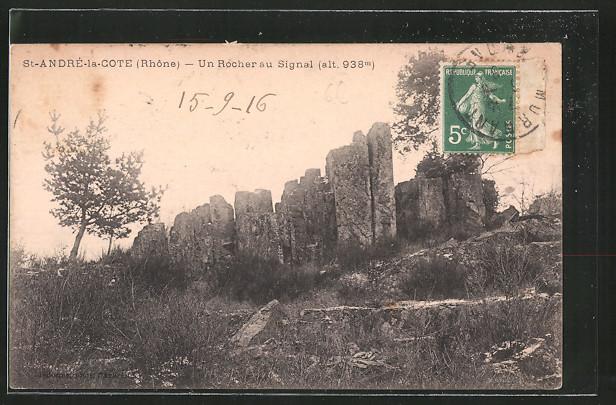 AK Saint-André-la-Cote, un rocher au signal