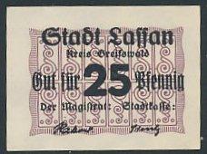 Notgeld Lassan, 25 Pfennig, Ornamente