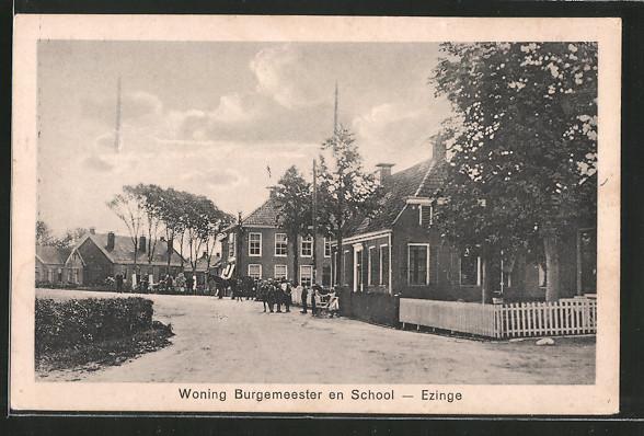 AK Ezinge, Woning Burgemeester en School