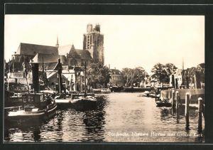 AK Dordrecht, Nieuwe Haven met Groote Kerk