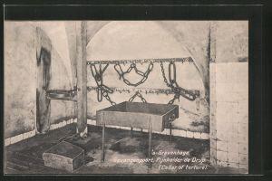 AK 's-Gravenhage, Gevangenpoort, Pijnkelder de Drup, Cellar of torture