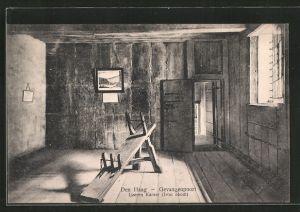 AK 's-Gravenhage, Gevangenpoort, Ijzeren Kamer, Iron room