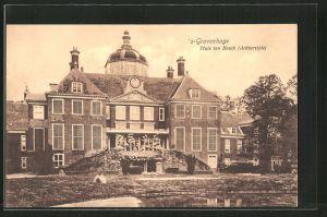 AK 's-Gravenhage, Huis ten Bosch, Achterzijde