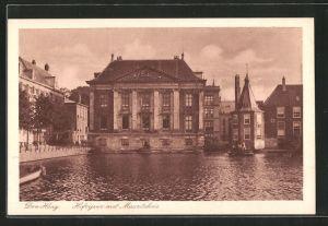 AK Den Haag, Hofvijver met Mauritshuis