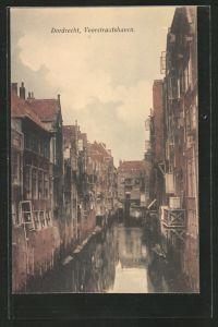 AK Dordrecht, Voorstraatshaven, Gebäude am Kanalufer