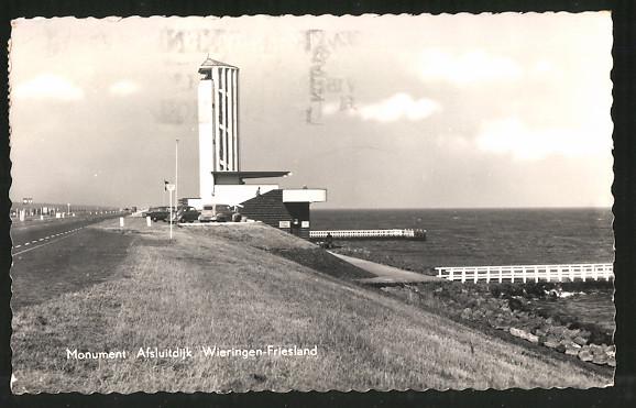 AK Wieringen-Friesland, Monument Afsluitdijk